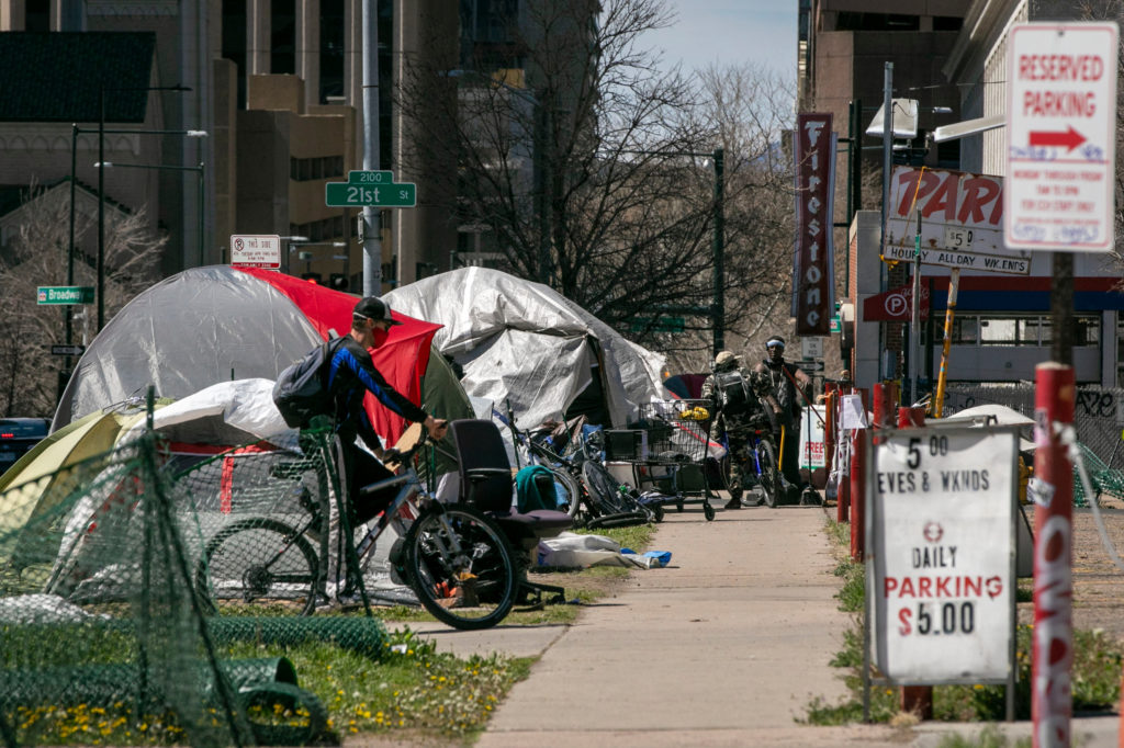 Homeless Tents And Camps In Downtown Denver 200428