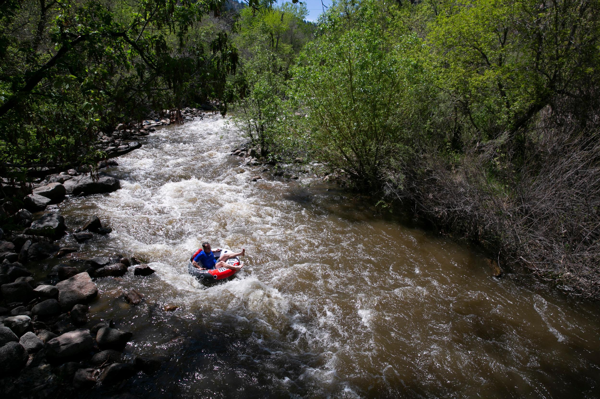 Cooling off in Boulder Creek