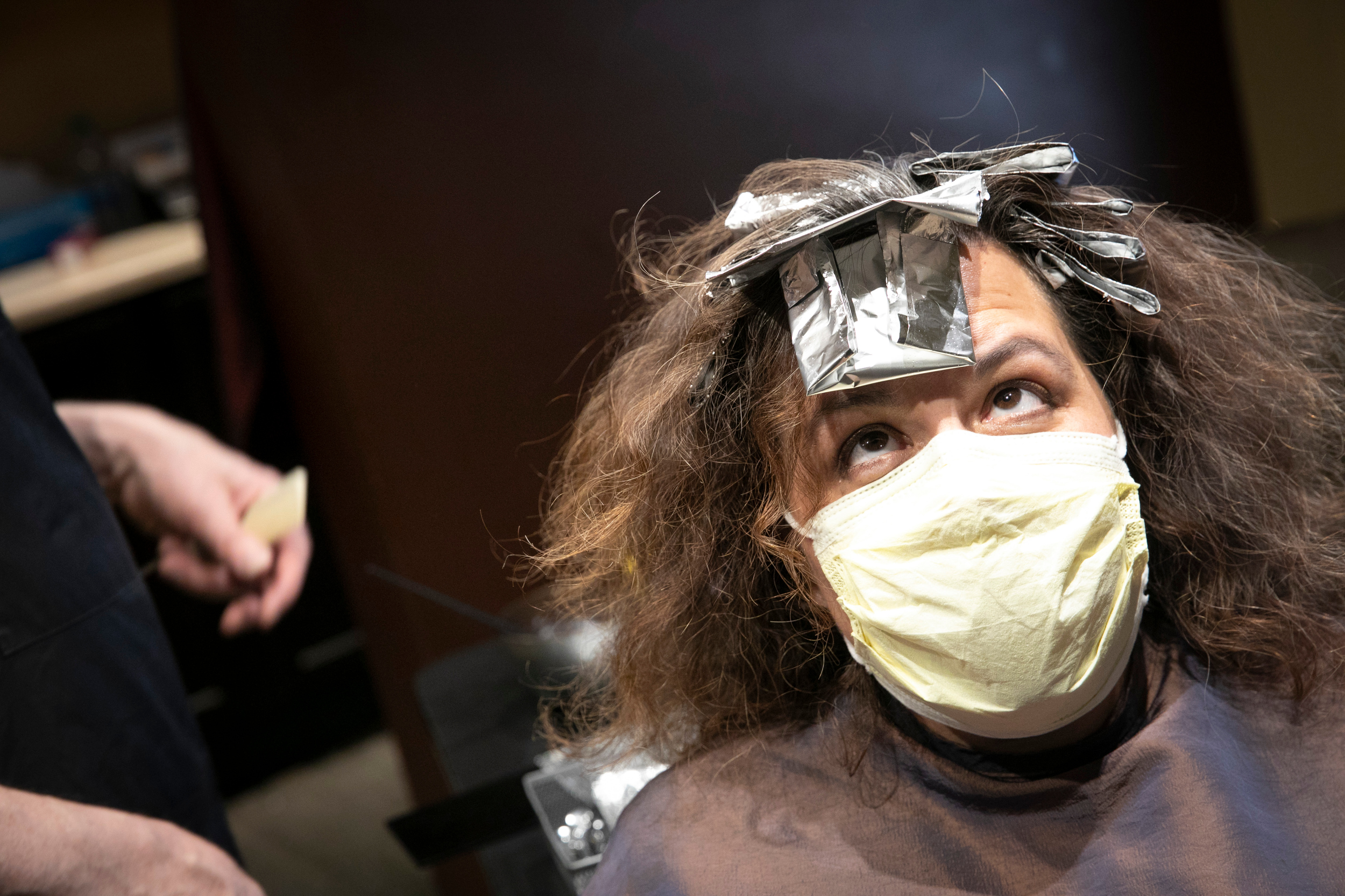Michelle Barron At David MacDonald's Hair Salon 2