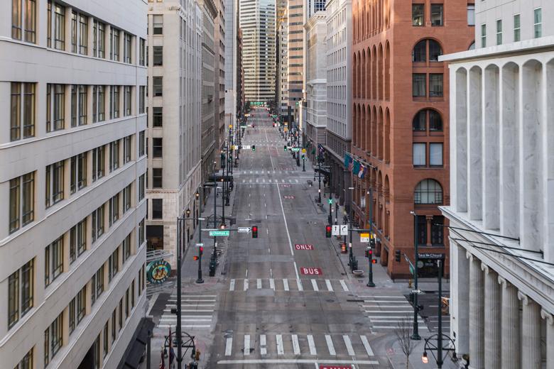 Downtown Denver Pandemic Postcard