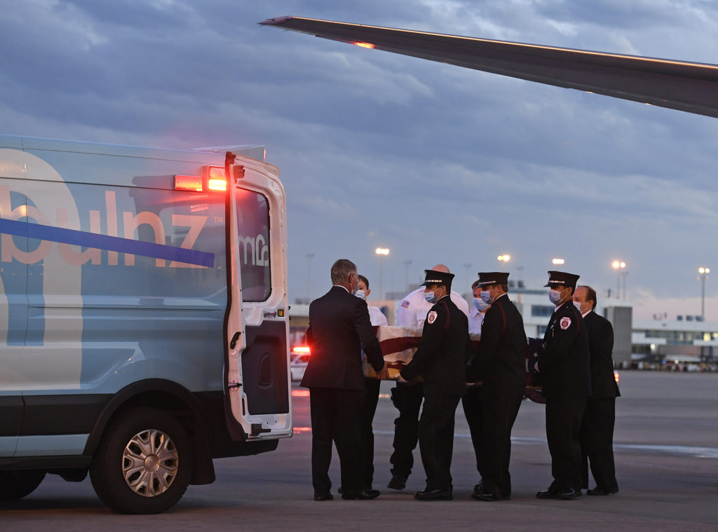 Ambulnz paramedic Paul Cary arrives in Denver
