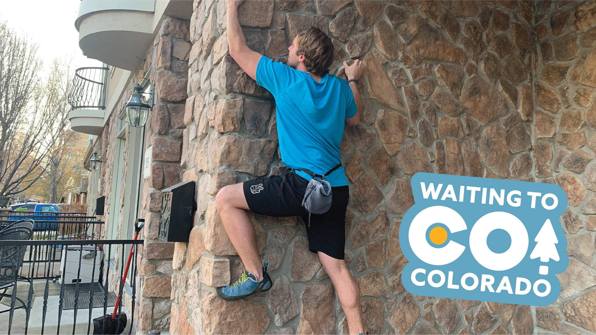 The Colorado Tourism Board says instead of traveling to rock climb, people could just practice it on the sides of their homes.