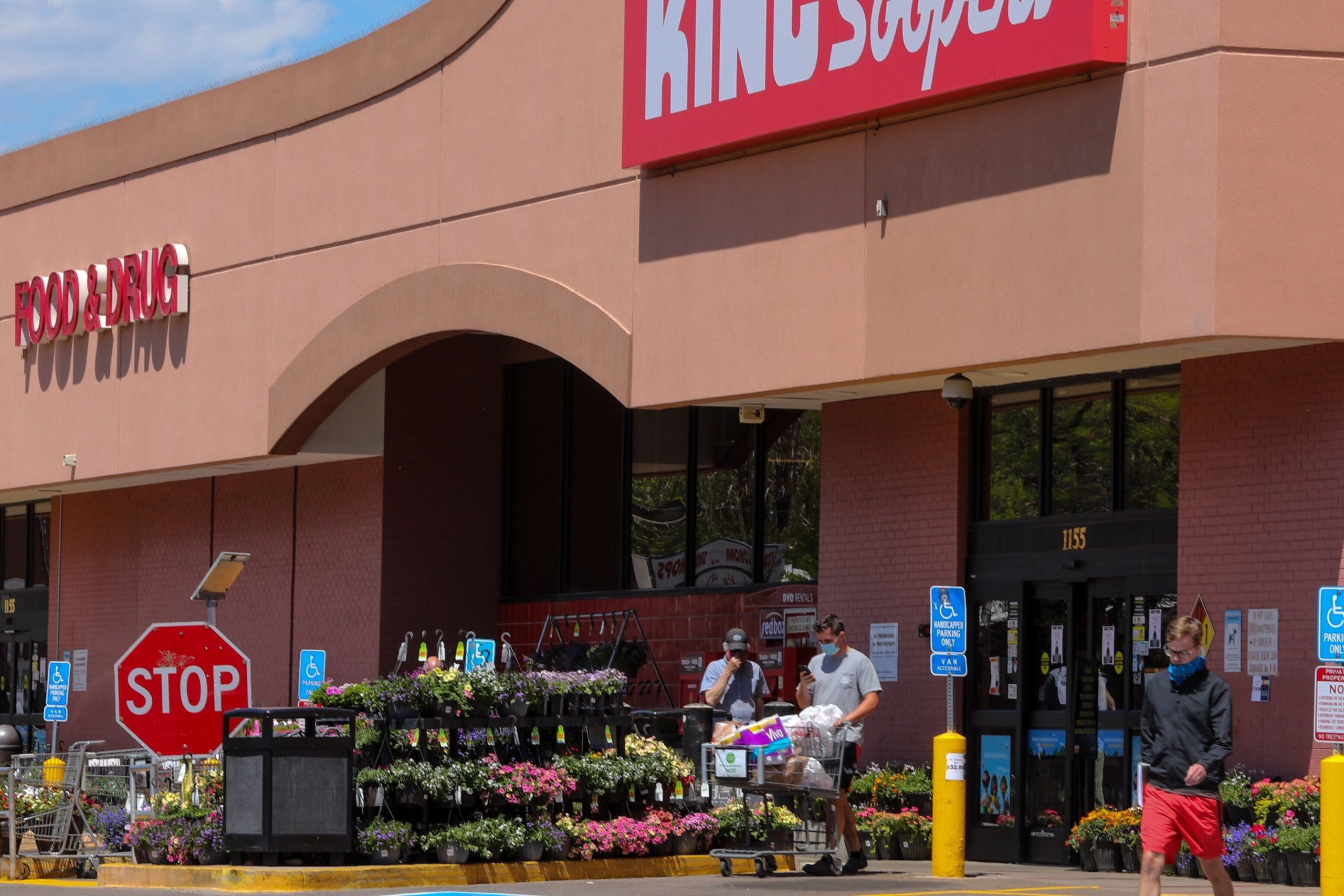 The entrance to the King Soopers in Denver's Capitol Hill neighborhood, May 19, 2020.