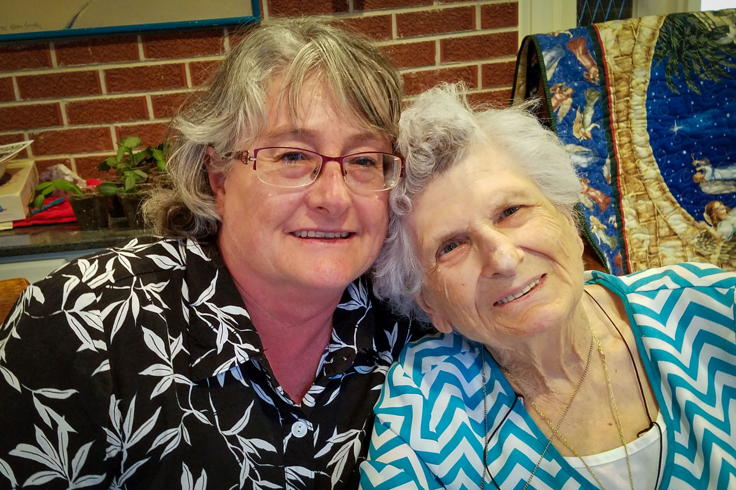 Janice Paulter's sister, Patty Jones, who is a nurse at Yuma County Hospital now, and her mother Serena Simon Best.