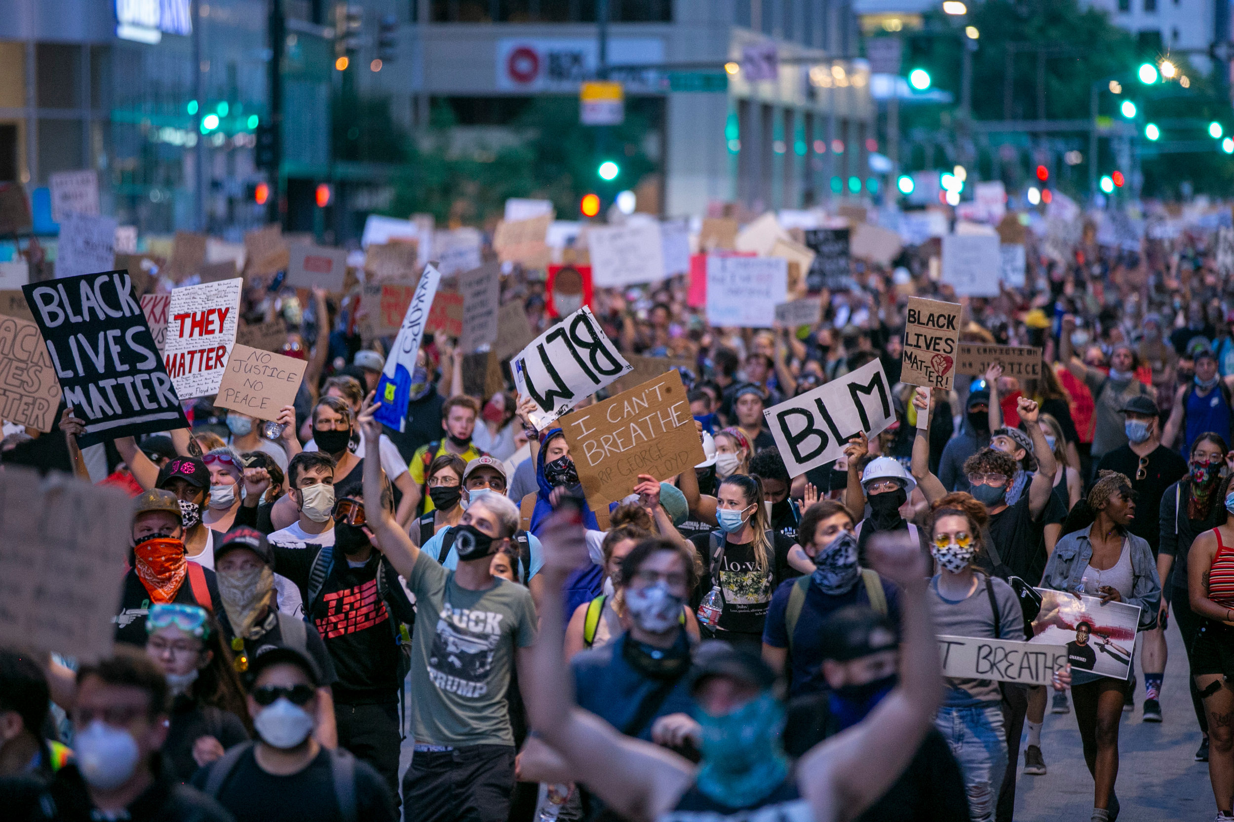 Denver Police Chief Pazen Joins Demonstrators Protesting George Floyd's Death In Minneapolis