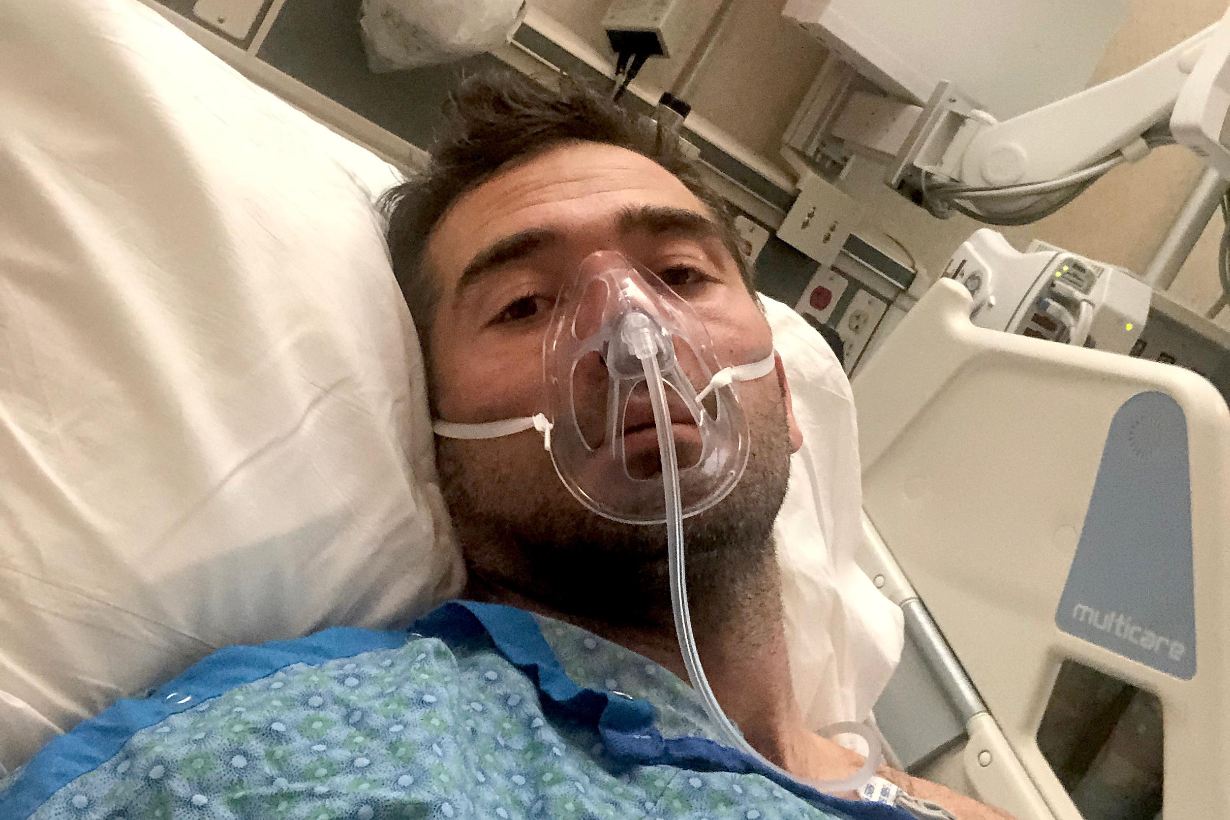 Jason Jahanian during COVID-19 treatment