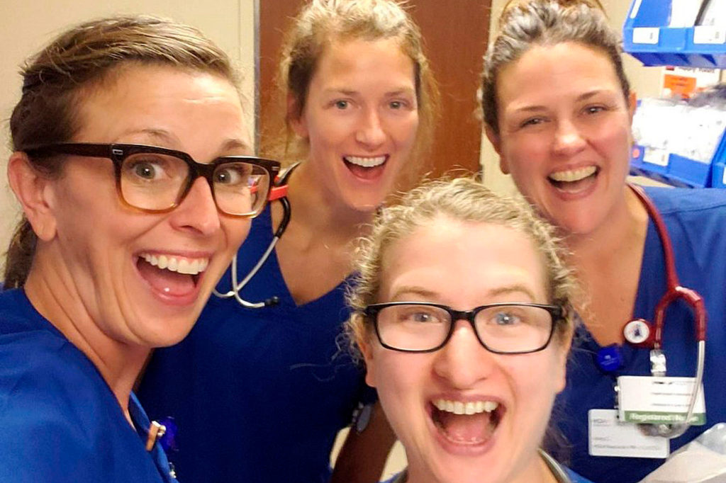 Nurses on Jason Jahanian's COVID-19 care team