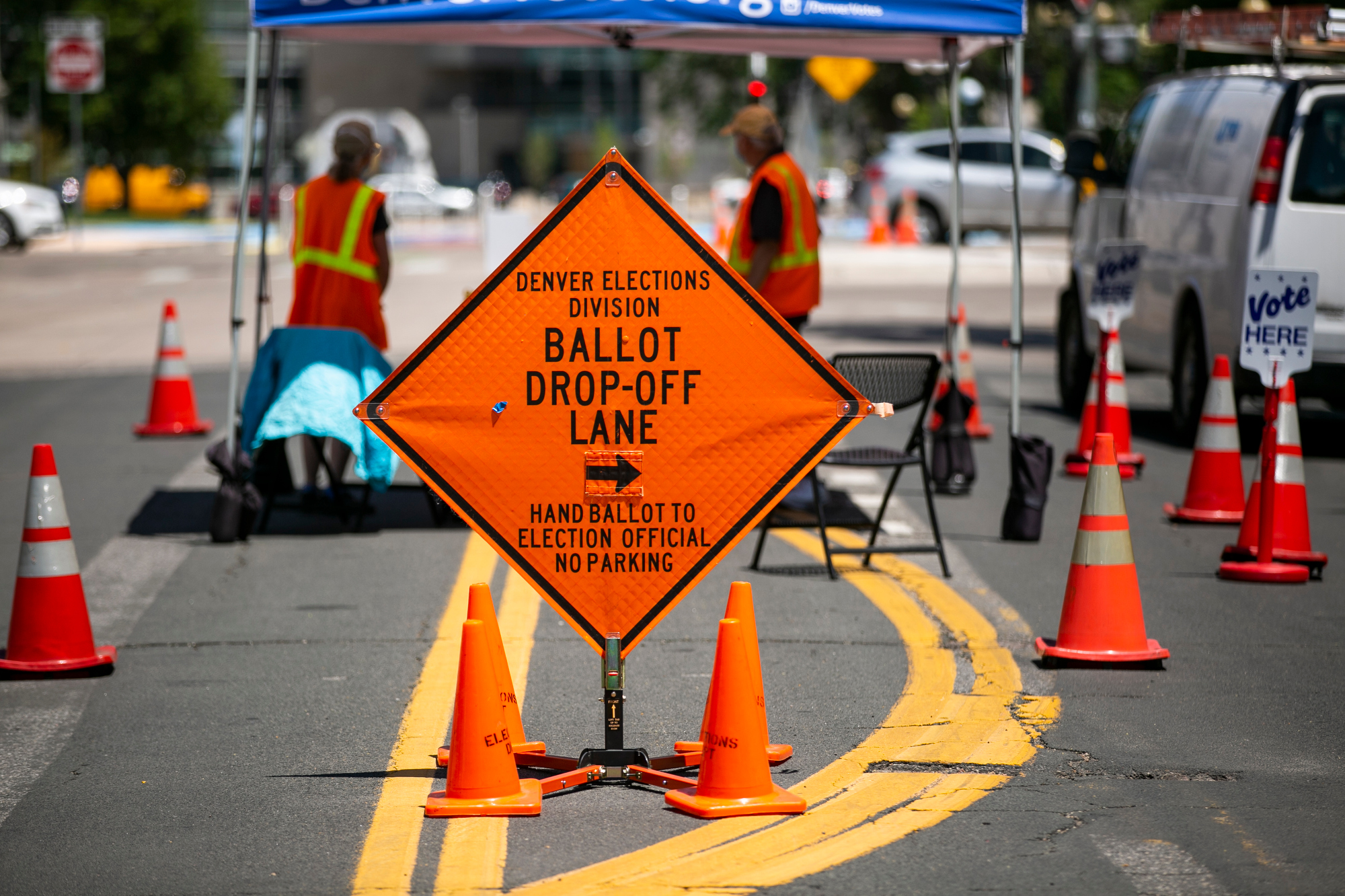 Primary Day Voting Ballot Drop Off Denver