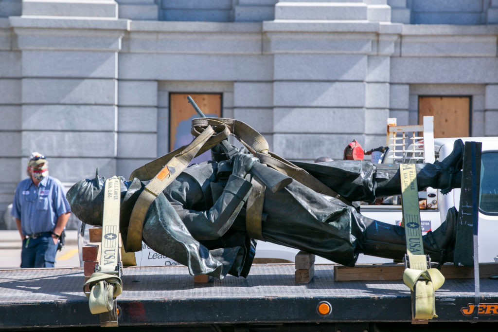 Capitol Statue Torn Down
