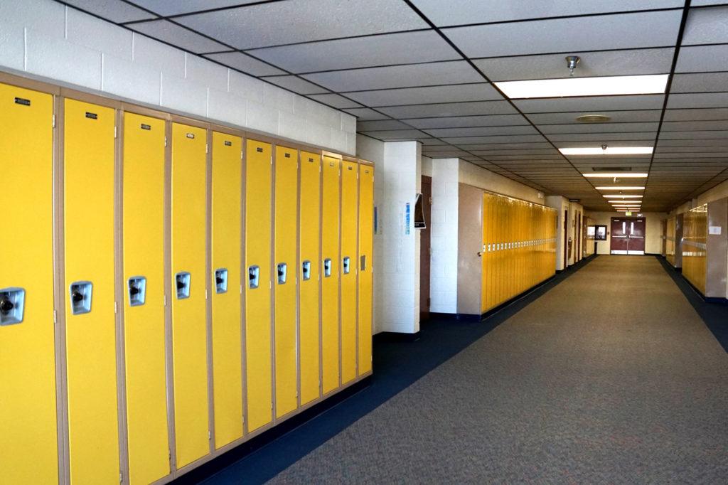 JeffCo Schools Empty Hallway