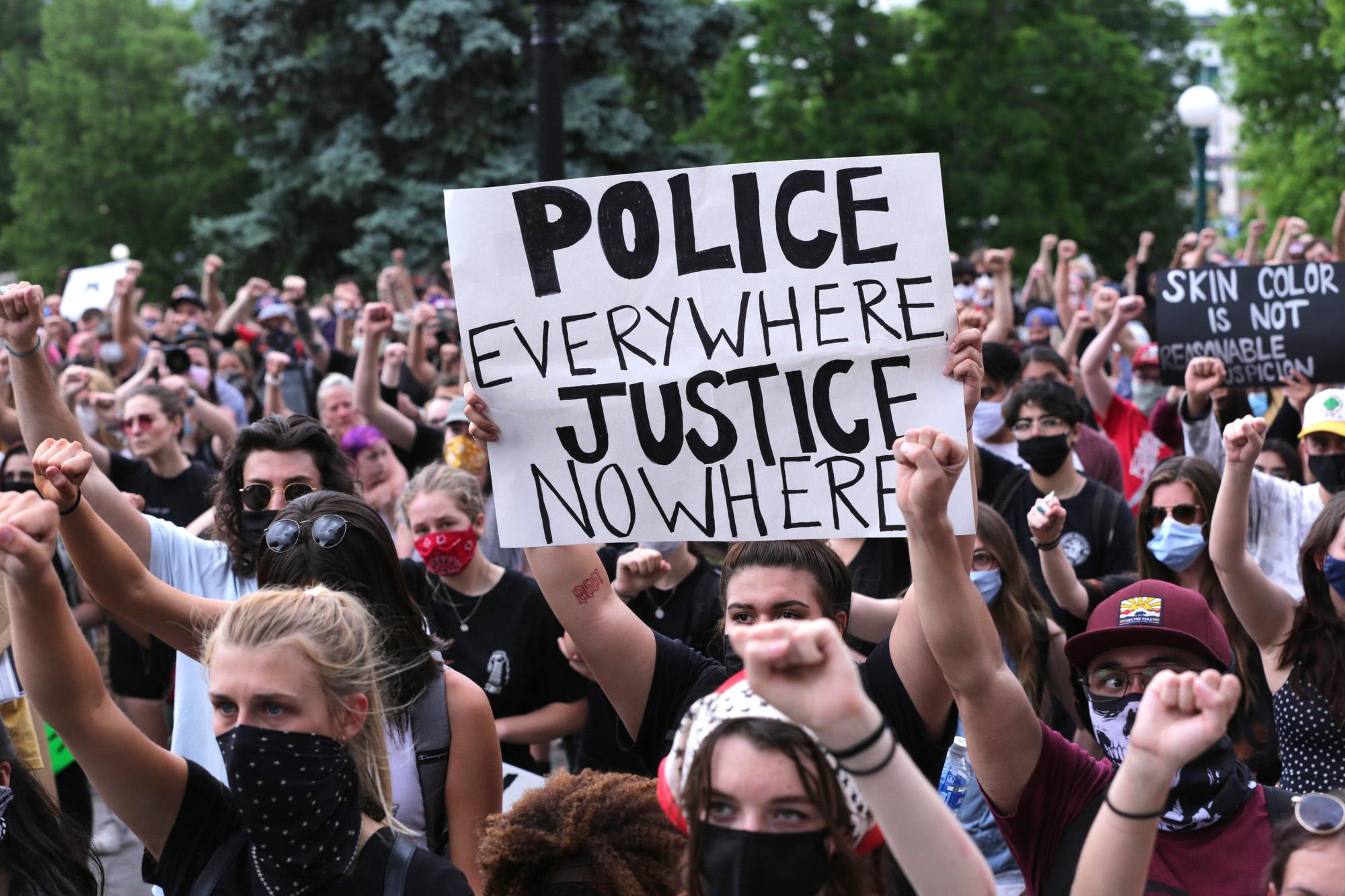Denver Protests Against Racism Police Brutality June 2020
