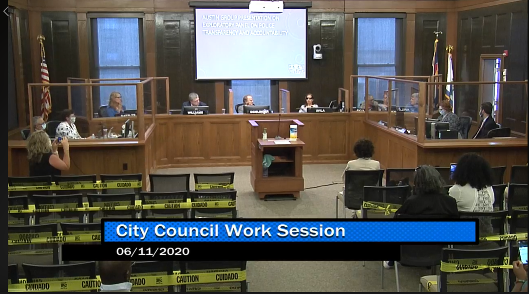 Colorado Springs City Council held a work session on Thursday, June 11, 2020, on a proposed Police Advisory Committee