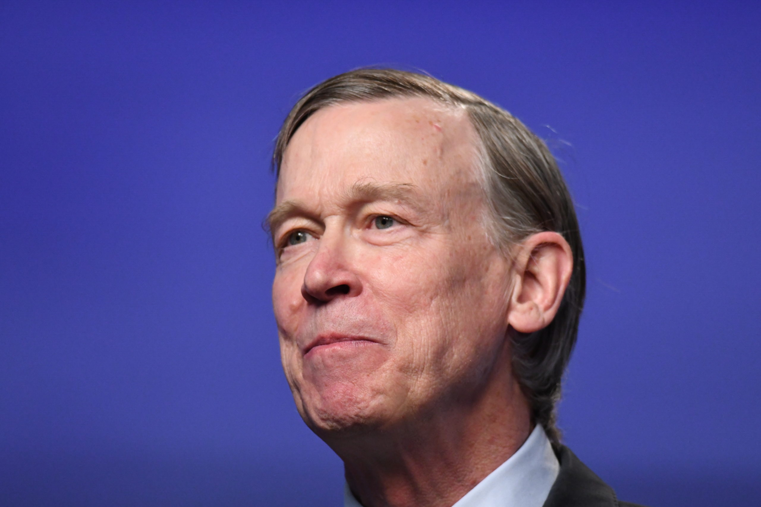 Former Colorado Gov. John Hickenlooper debates former state House speaker Andrew Romanoff in the studio of Denver7 in Denver on Tuesday, June 16, 2020. The debate, held ahead of the Democratic primary, was sponsored by The Denver Post, Colorado Public Radio News, Denver7 and the University of DenverÕs Center on American Politics. The winner of the June 30 primary will go on to face incumbent Republican Colorado Sen. Cory Gardner in November's general election.