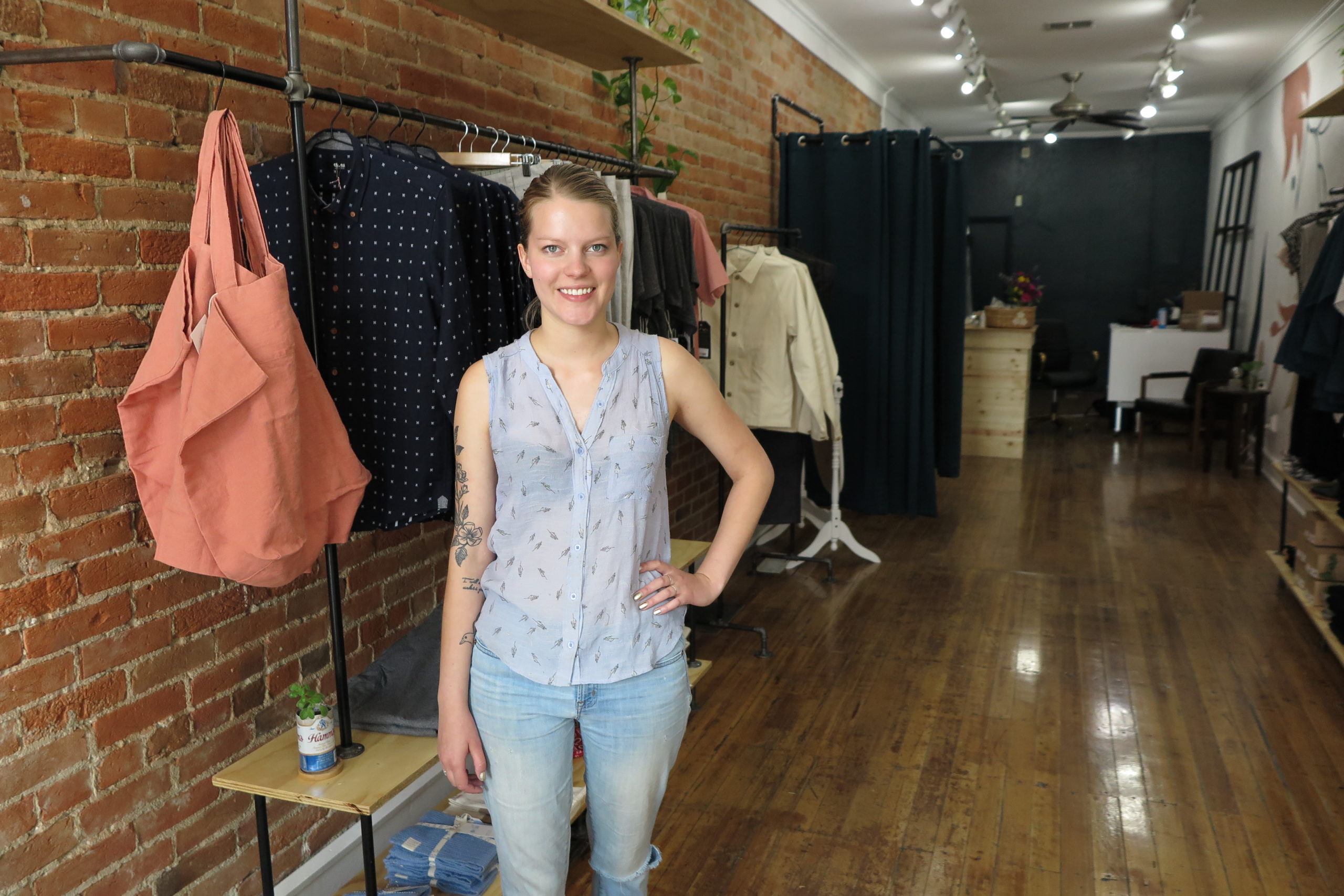 Colorado Springs native Rebecca Moon originally planned to open her downtown boutique, Moonbeam Clothiers, on March 20th. The pandemic shutdown forced her to postpone until May 29th.
