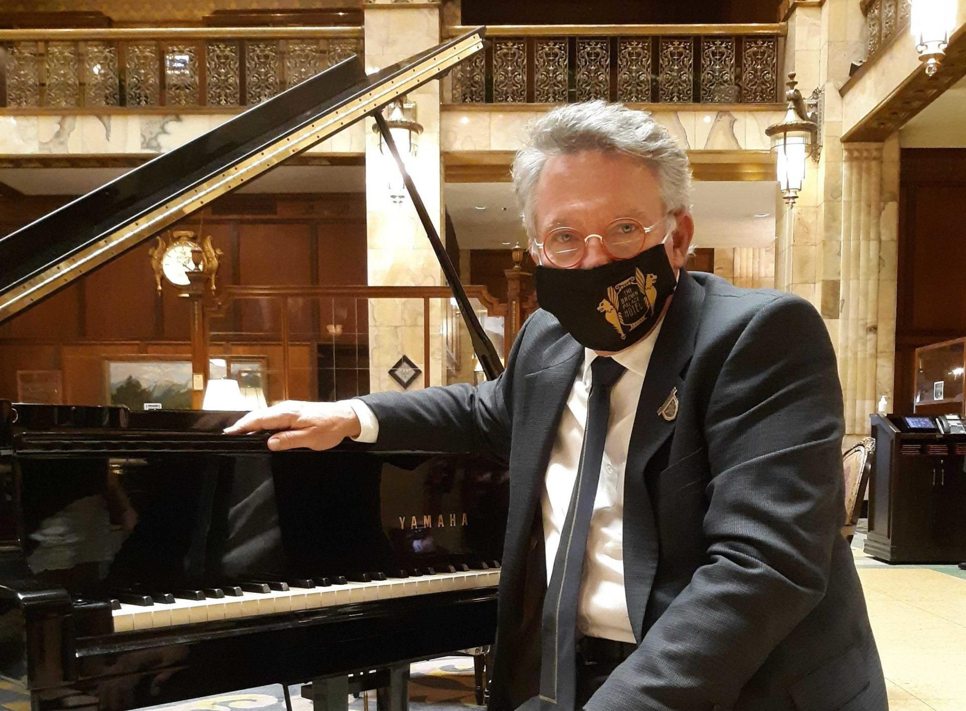 John Kite is playing the piano once again at the Brown Palace Hotel in Denver after initially losing his job due to the pandemic shutdowns.