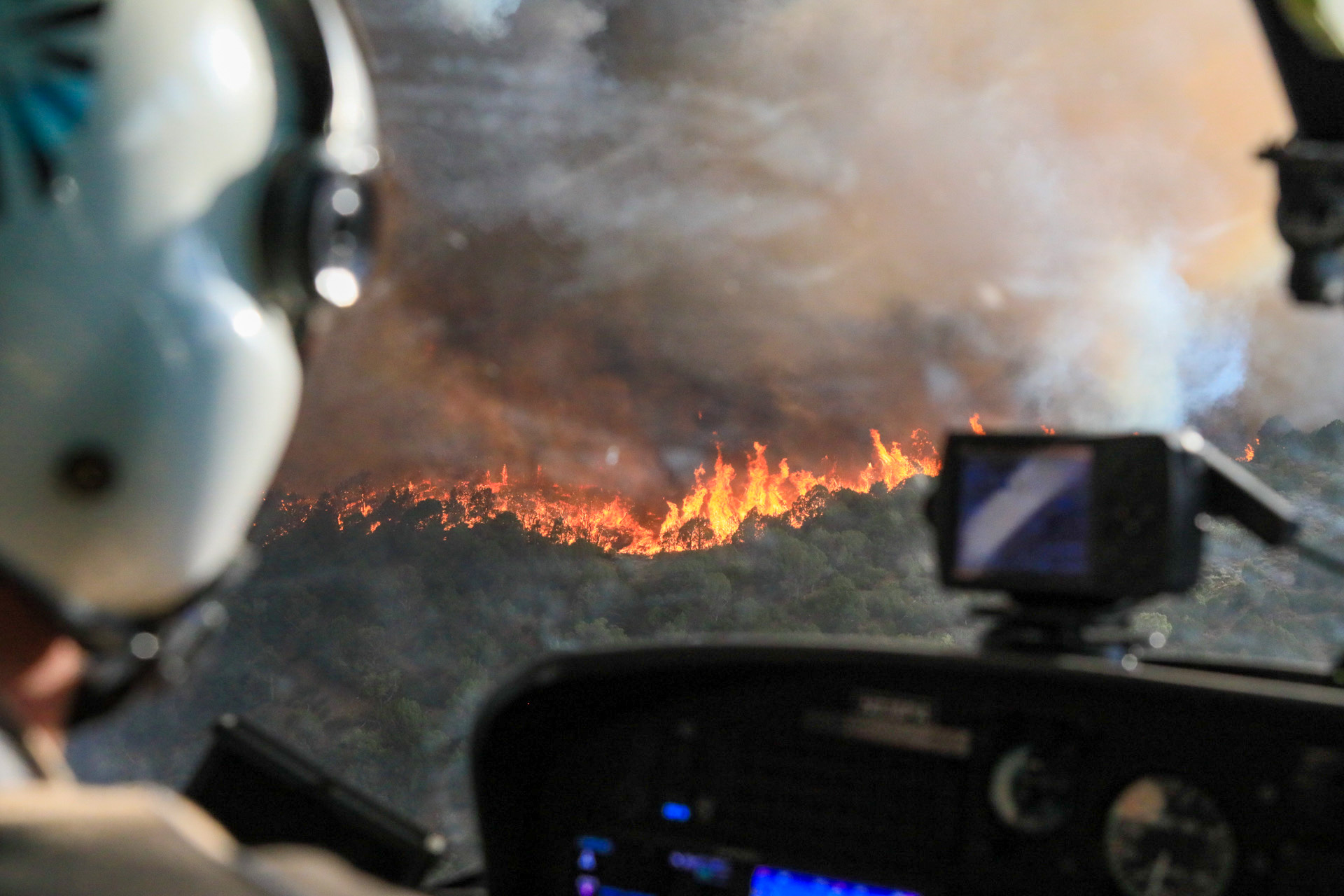 The Grizzly Creek fire burns through the White River National Forest on Thursday, Aug. 13, 2020.