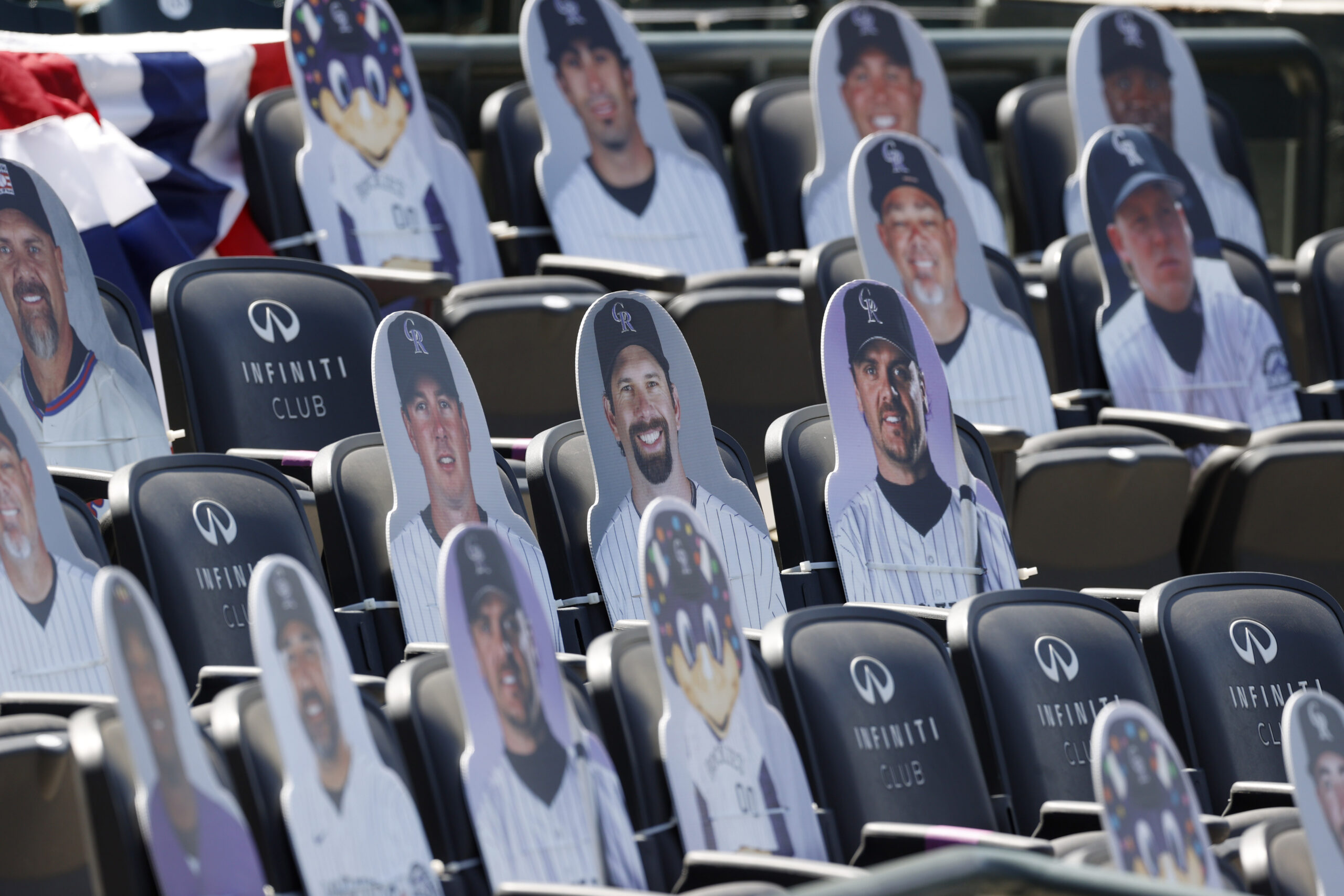 Empty seats Rockies opening day game 2020 cardboard cutouts