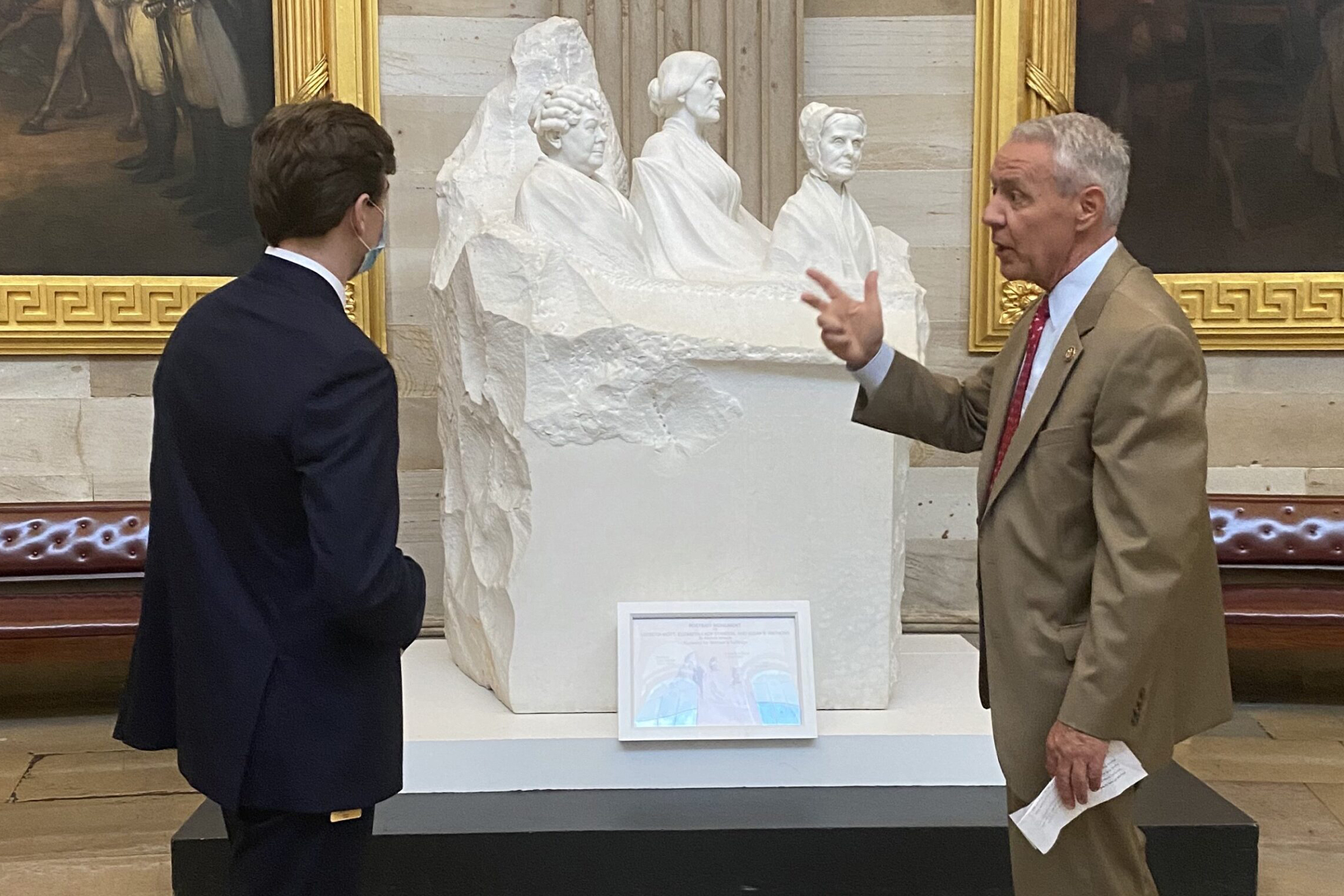 Rep. Ken Buck gives a tour in the U.S. Capitol.