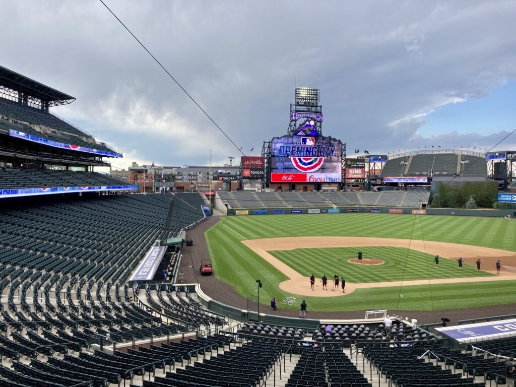 Coors Field opening day Rockies July 31, 2020