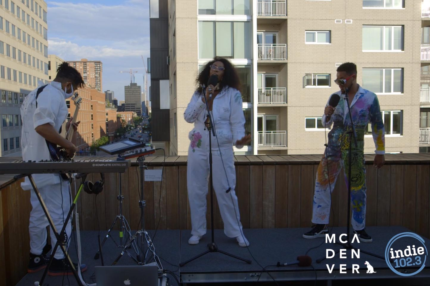 The Grand Alliance performs on the rooftop of MCA Denver for B-Side Music Fridays.