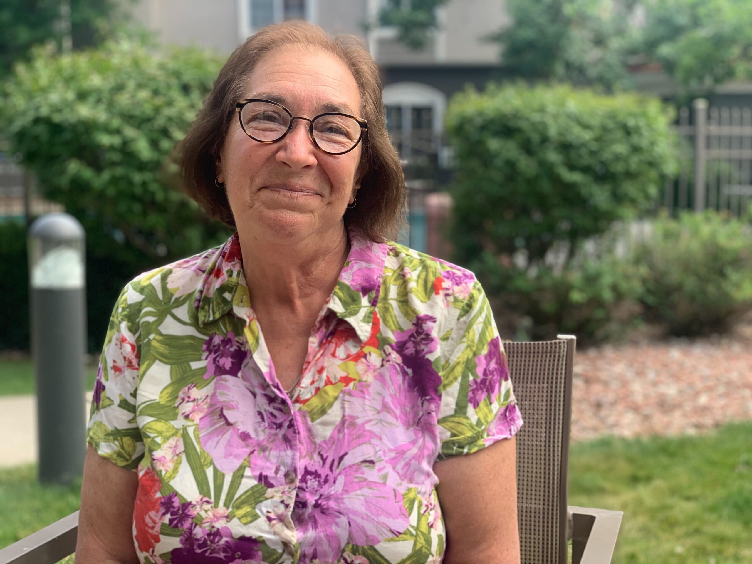 Catherine Azar, 70, is staying at La Quinta in Louisville after her eviction.
