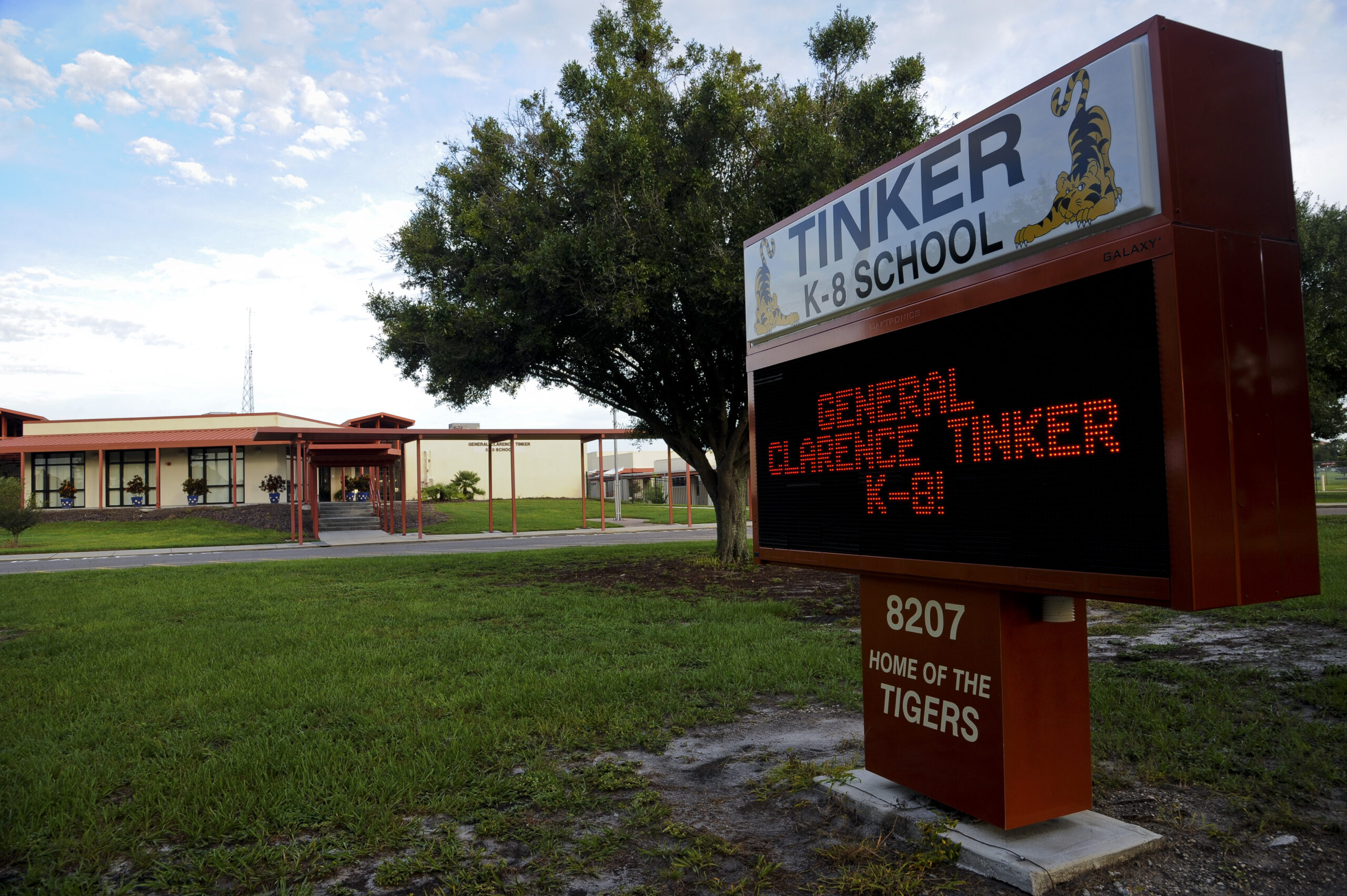 Tinker K-8 School: great effort to support military families
