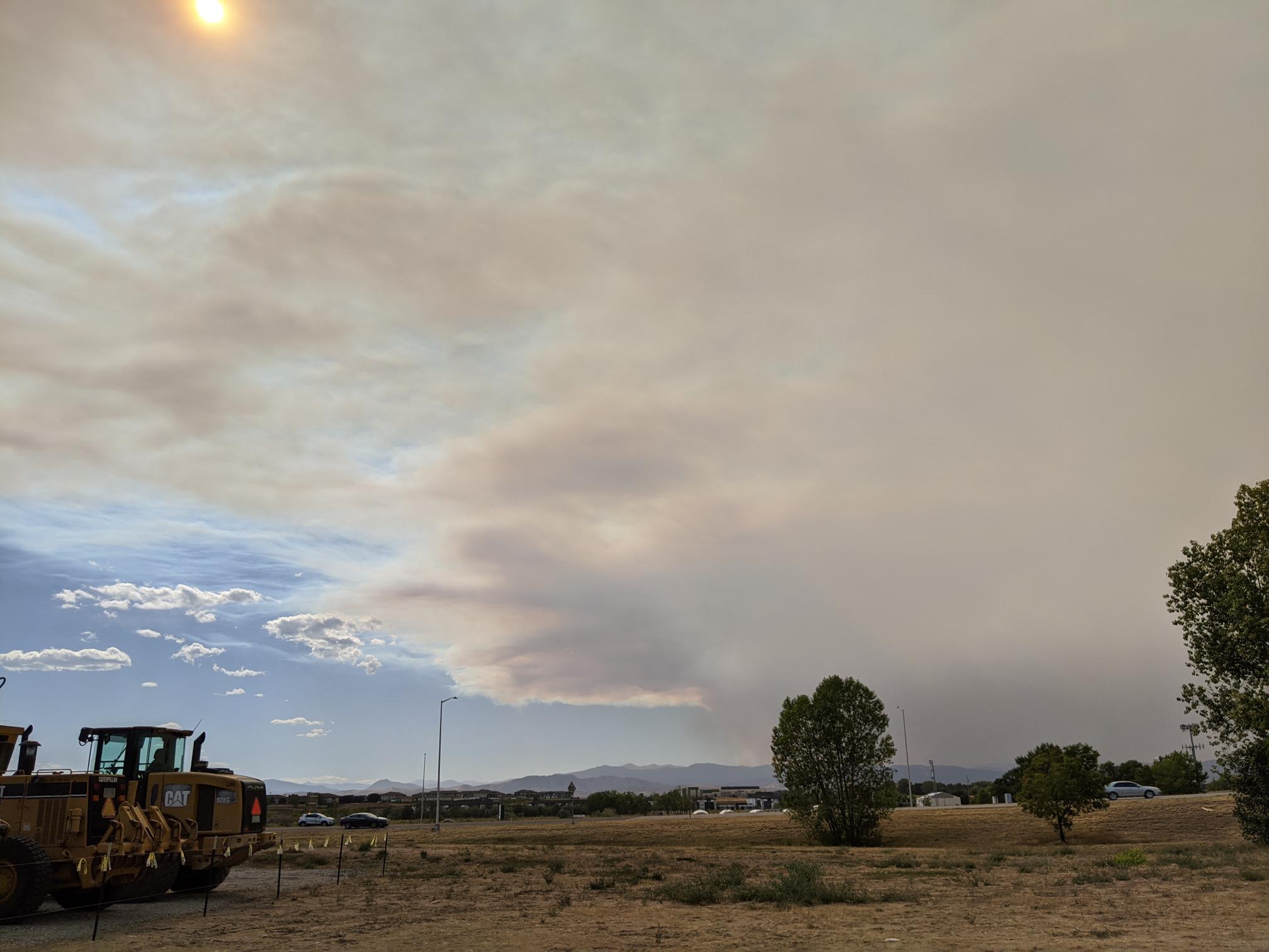 Cameron Peak fire smoke spreads across Colorado