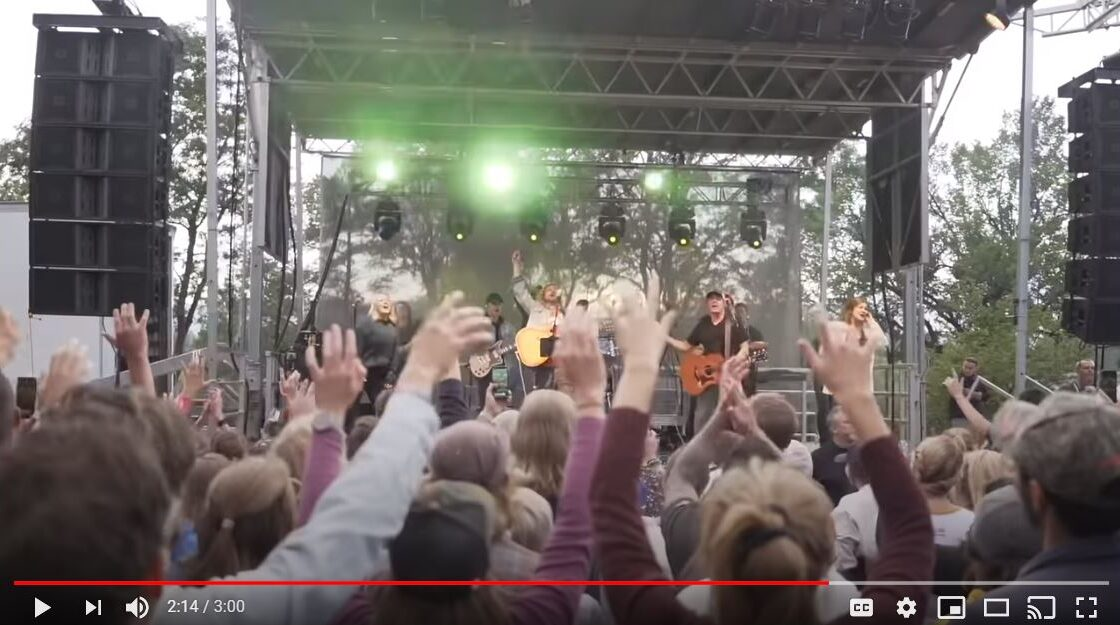 A video from YouTube that shows Sean Feucht performing at City Park in Fort Collins on Friday, Sept. 9, 2020.