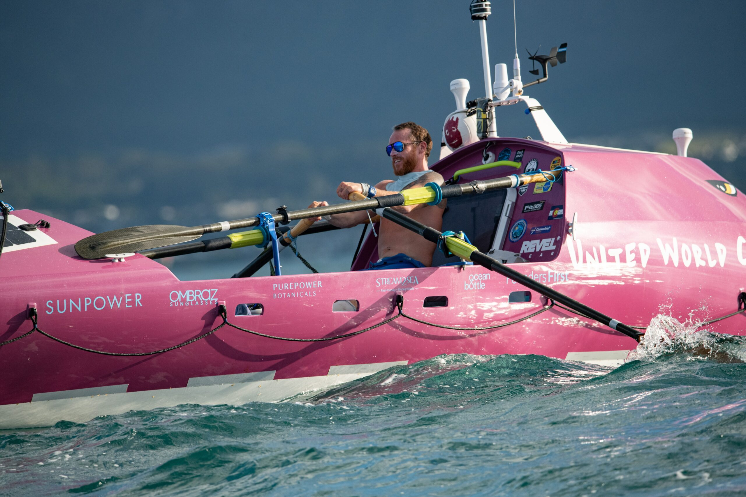 Tez Steinberg of Boulder rowed across the Pacific Ocean from California to Hawaii.