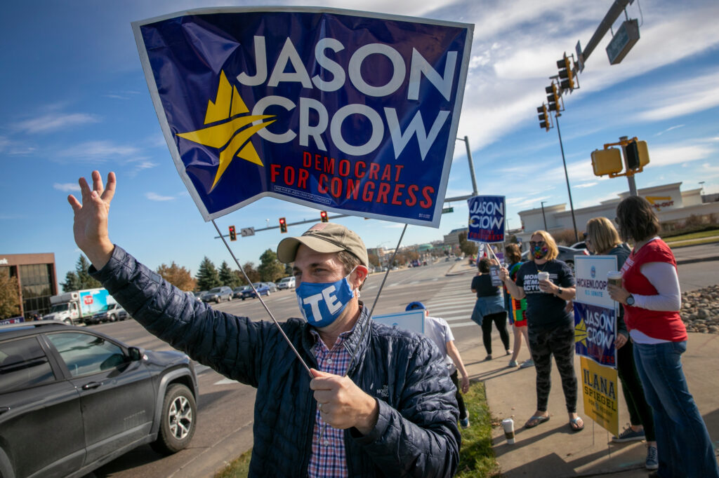 ELECTION-DAY-AURORA-DEMOCRATS-CROW