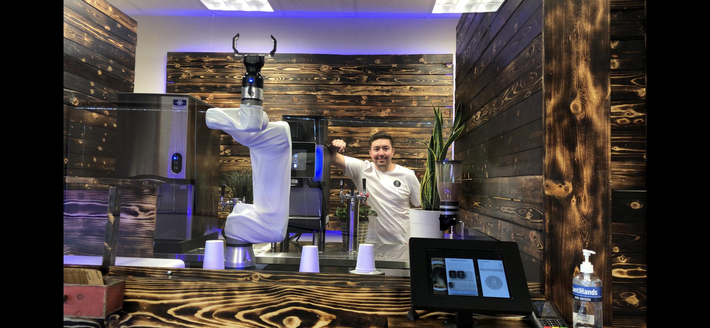 robo cafe coffee robot barista Golden