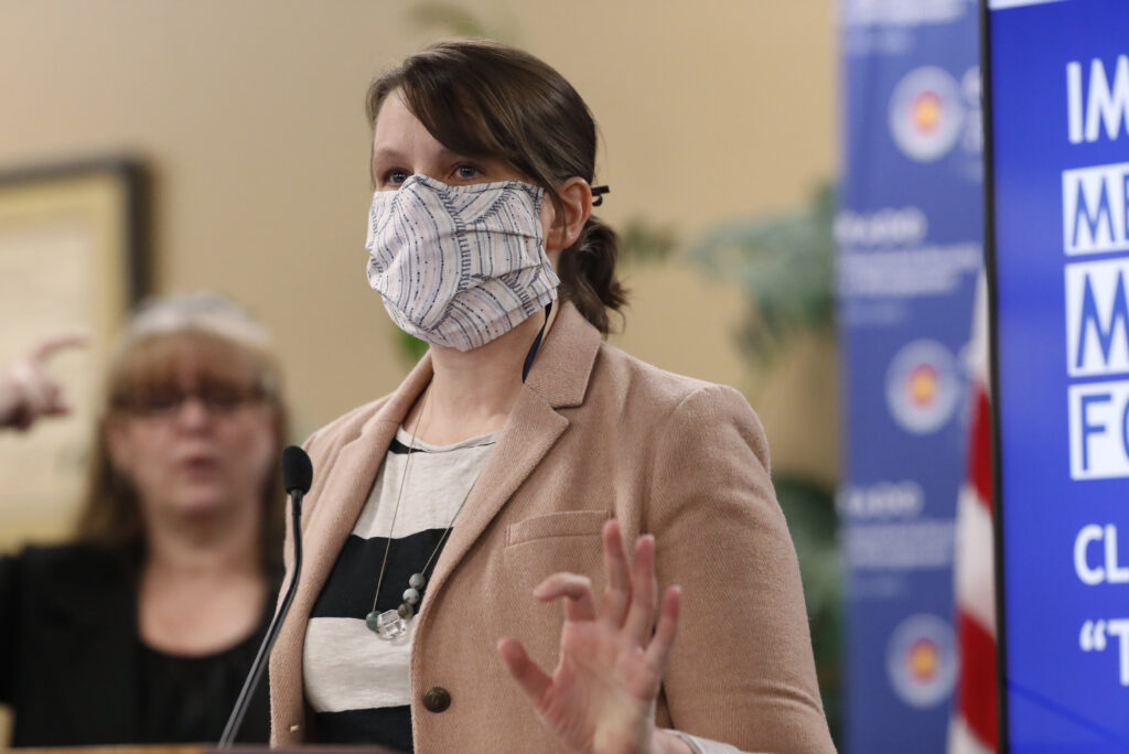 Sarah Tuneberg, part of Colorado's COVID-19 response team