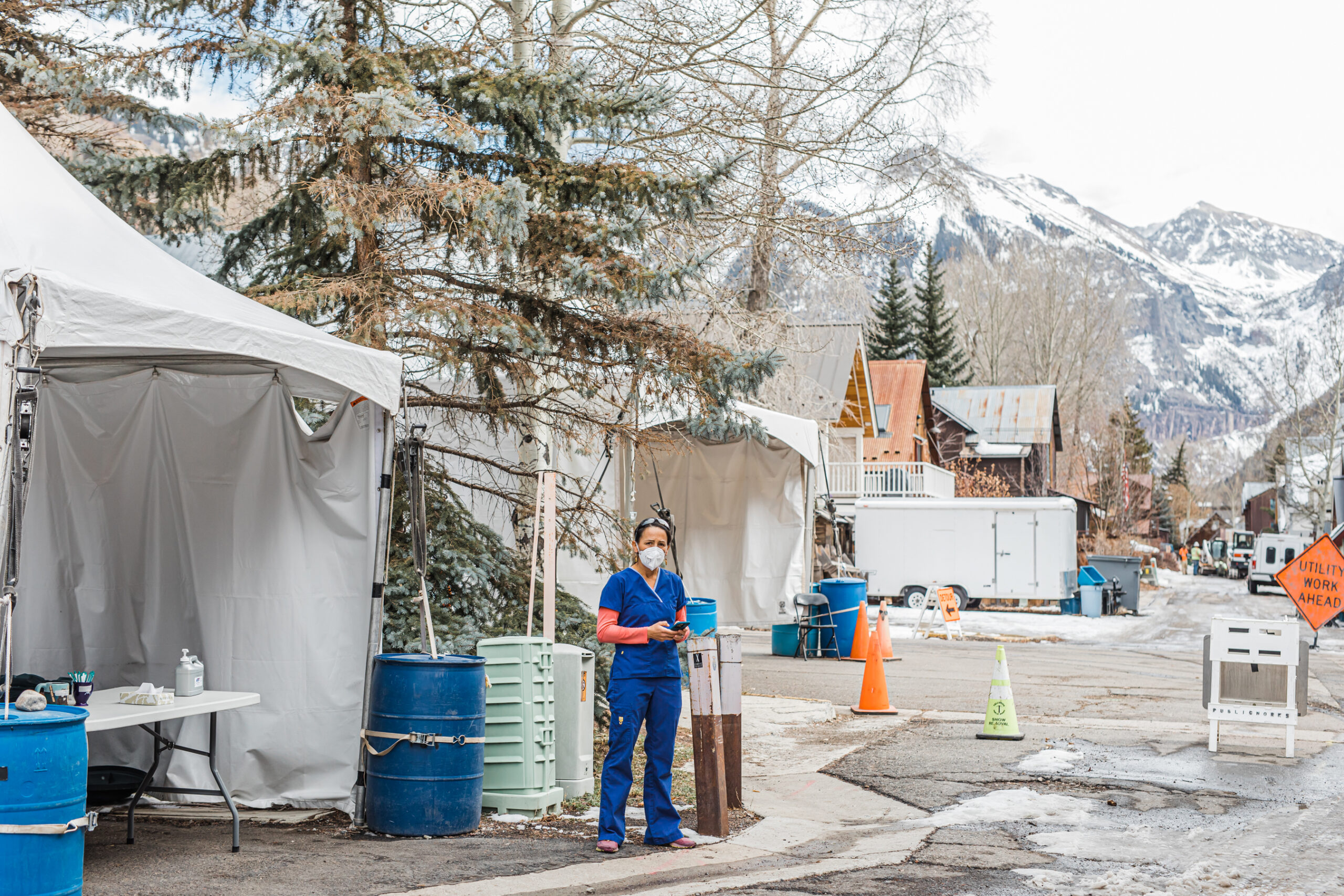 Ximena Rebolledo León, a registered nurse at Telluride Regional Medical Center in southwestern Colorado, emigrated from Mexico more than 20 years ago. During the COVID-19 pandemic, she has performed contact tracing in the small Telluride community, including among many Latino front-line workers.