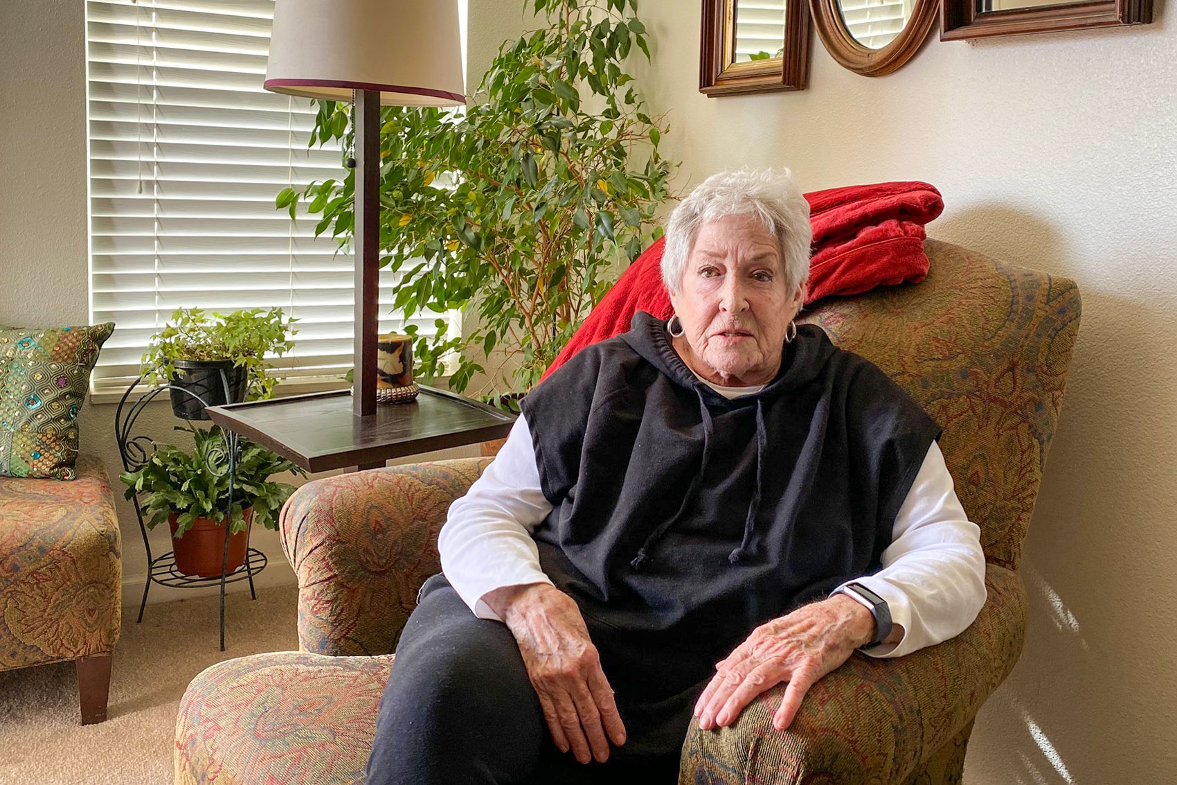 Susan Sarchet of Denver received comprehensive medical care at home recently and avoided hospitalization when her COPD symptoms worsened through a hospital-at-home program.