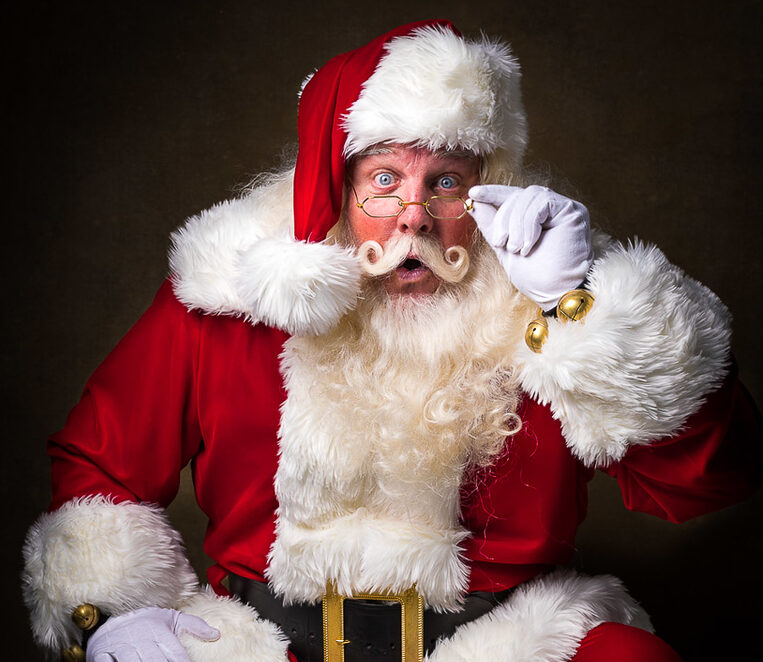 """Santa Claus photographed by Ron Cooper, of Denver, for his debut book, """"We Are Santa."""""""