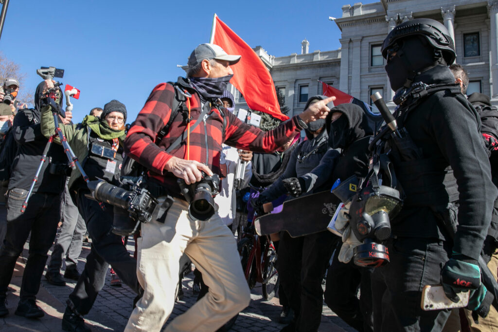 INAUGURATION-PROTESTERS-STATE-CAPITOL-COMMUNISTS-ANTIFA