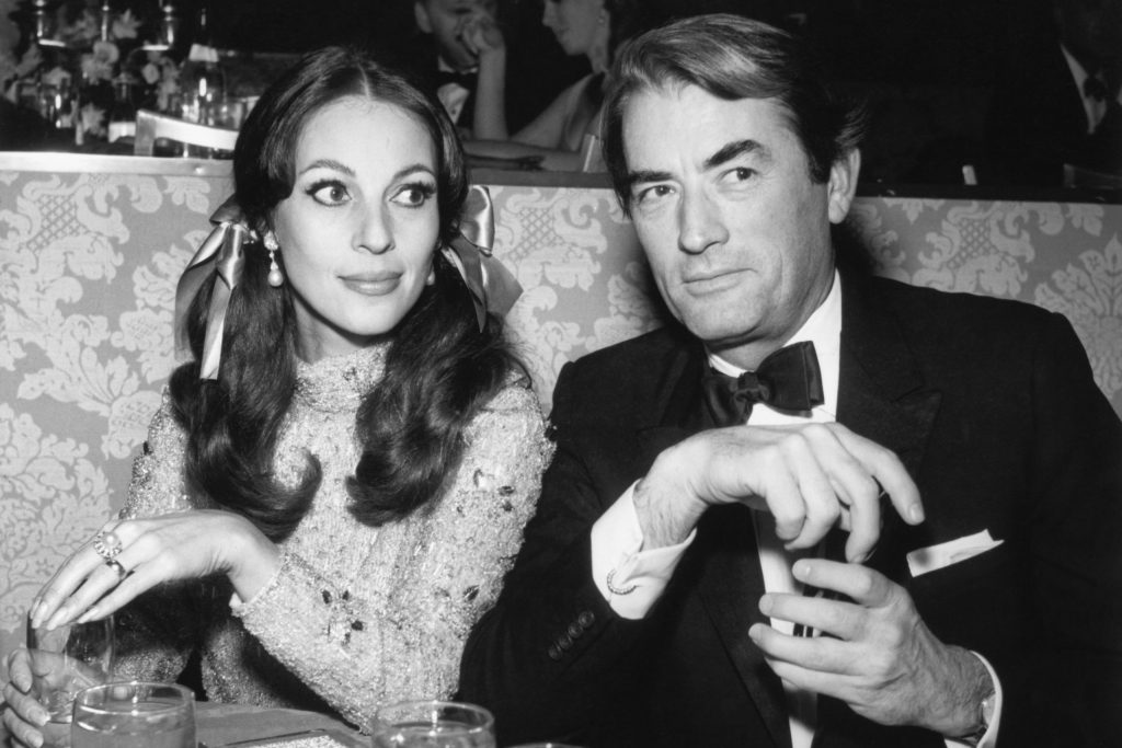 Gregory Peck with Wife Veronique