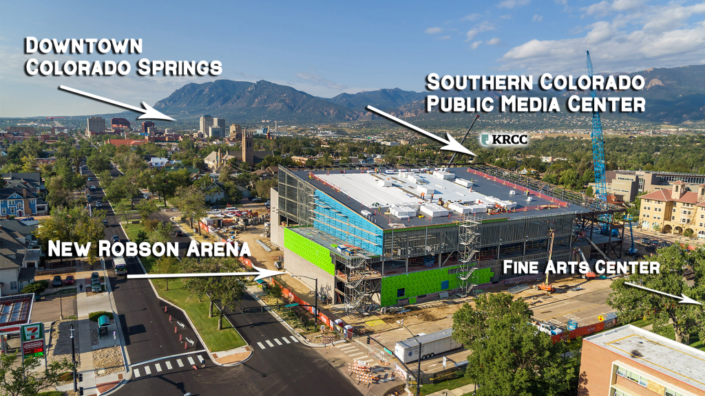 SCPMC - Building in relation to Robson Arena