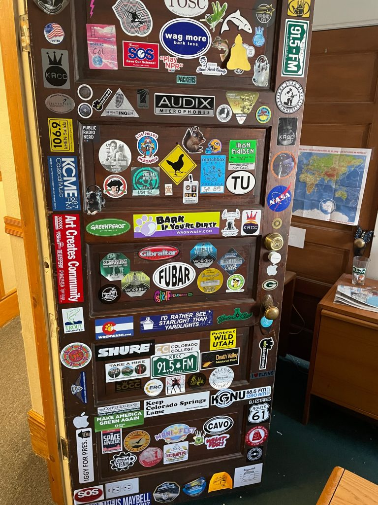 KRCC Weber building -- Mike's office door
