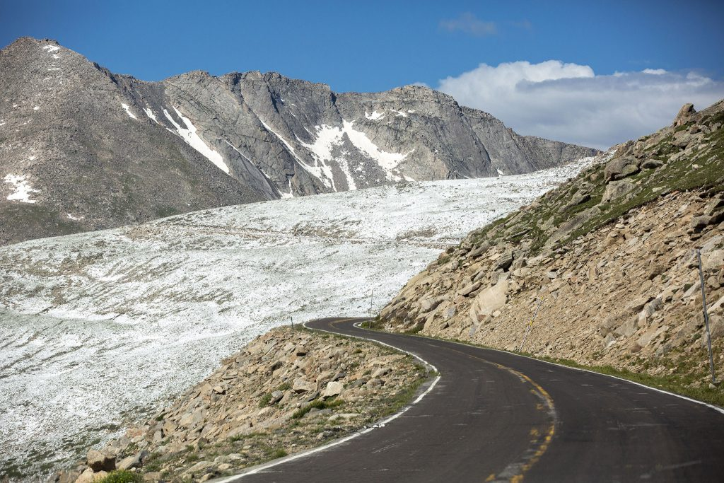Colorado State Highway 5, which leads to the summit of Mt. Evans. July 6, 2021.