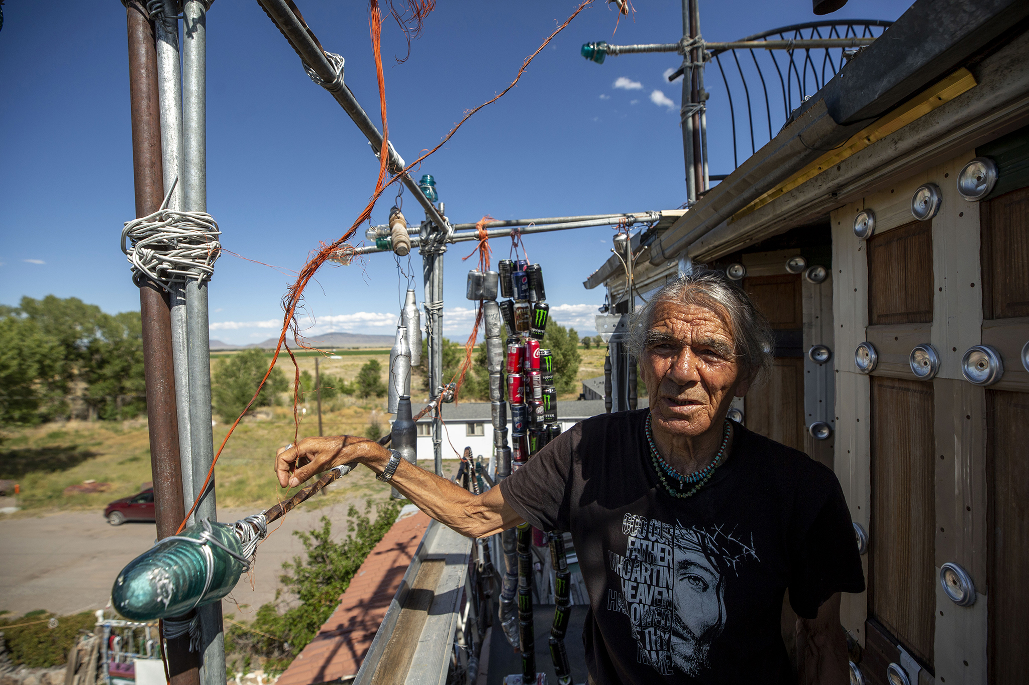 Dominic 'Cano' Espinoza at his home in Antonito. Aug. 25, 2021.