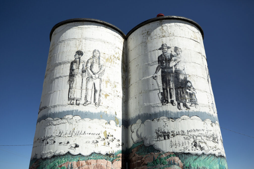 Painted silos in the San Luis Valley town of Antonito. Aug. 25, 2021.