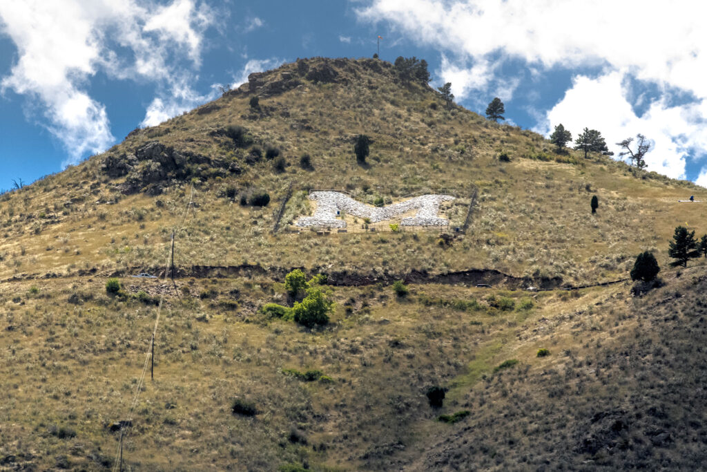 """The Colorado School of Mines """"M"""" on Golden's Mt. Zion. Aug. 24, 2021."""