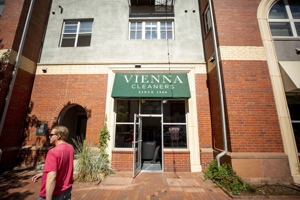 Vienna Cleaners in Denver's North Capitol Hill neighborhood, Sept. 21, 2021.