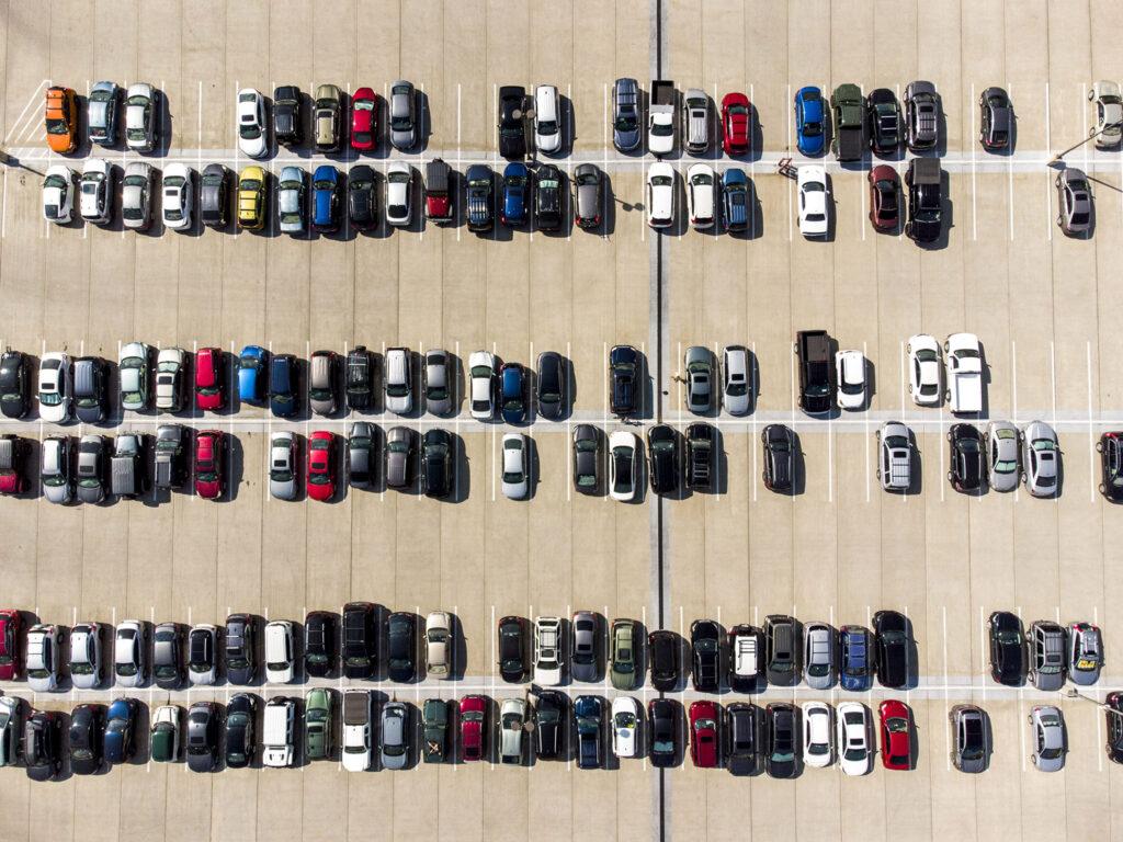 A pretty full parking lot at the University of Denver. Sept. 28, 2021.