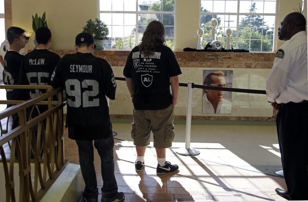Oakland Raider Fans at Al Davis Crypt